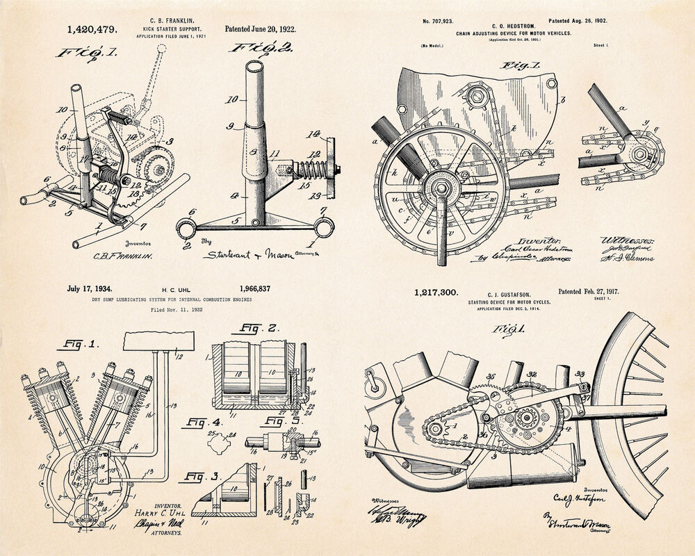 hight resolution of indian motorcycle engine parts best gift for motorcycle riders patent art print ebay