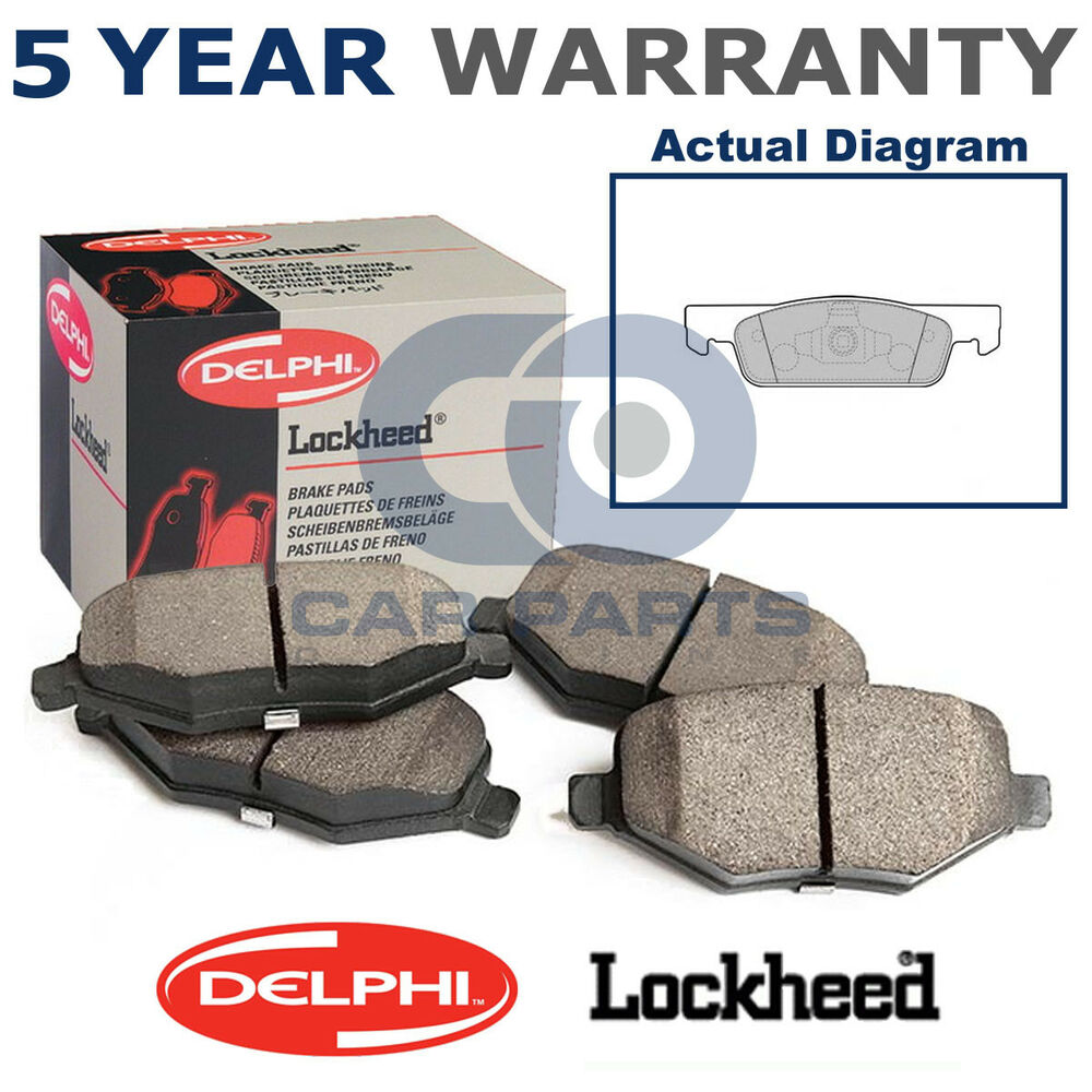 medium resolution of details about front delphi lockheed brake pads for dacia sandero renault clio 0 9 1 2 lp2479