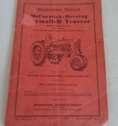 details about 1940 instruction manual mccormick deering farmall h tractor i h co  [ 830 x 1000 Pixel ]