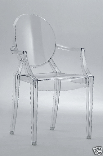 Philipe Starck Louis Ghost Clear Arm Side Dining Chair  eBay