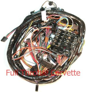 1972 Corvette Dash Wiring Harness without Air Conditioning