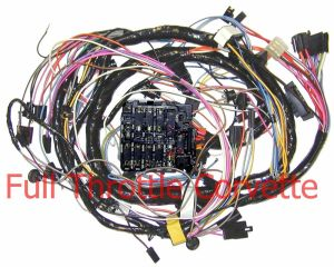 1972 Corvette Dash Wiring Harness with Air Conditioning