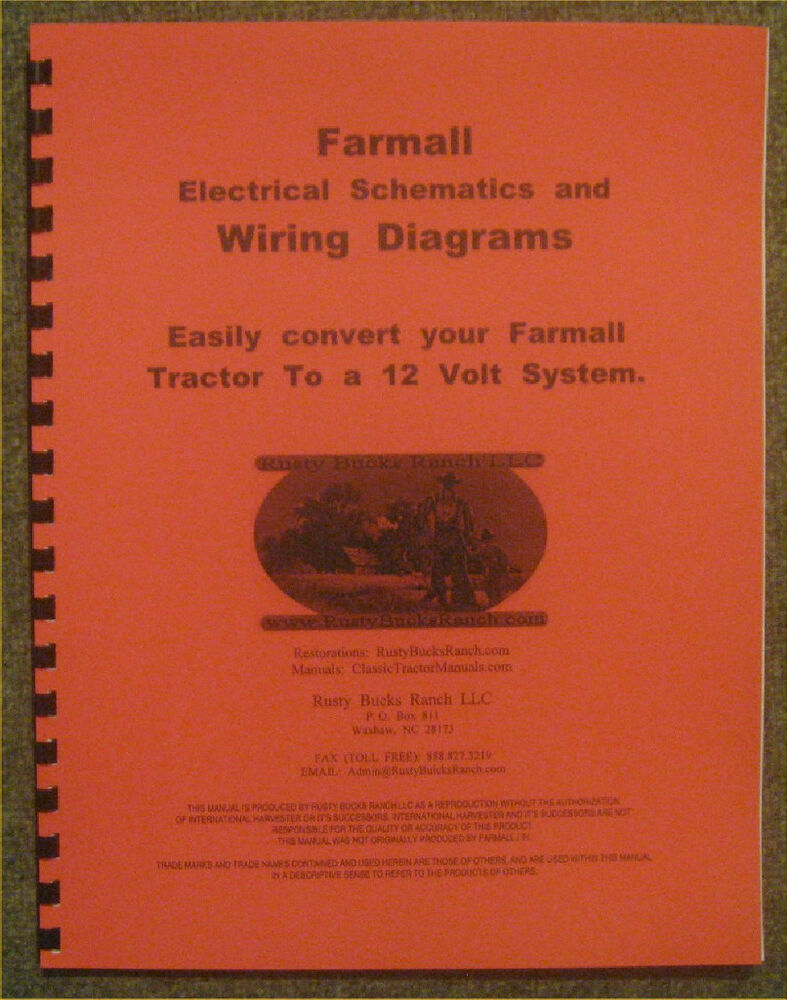 hight resolution of details about farmall 12 volt conversion wiring diagrams schematics a b h m super h super m
