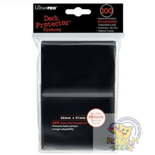 Ultra Pro Deck Protector Sleeves Black 66mm X 91mm