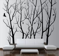 Large Wall Art Decor Vinyl Tree Forest Decal Sticker ...