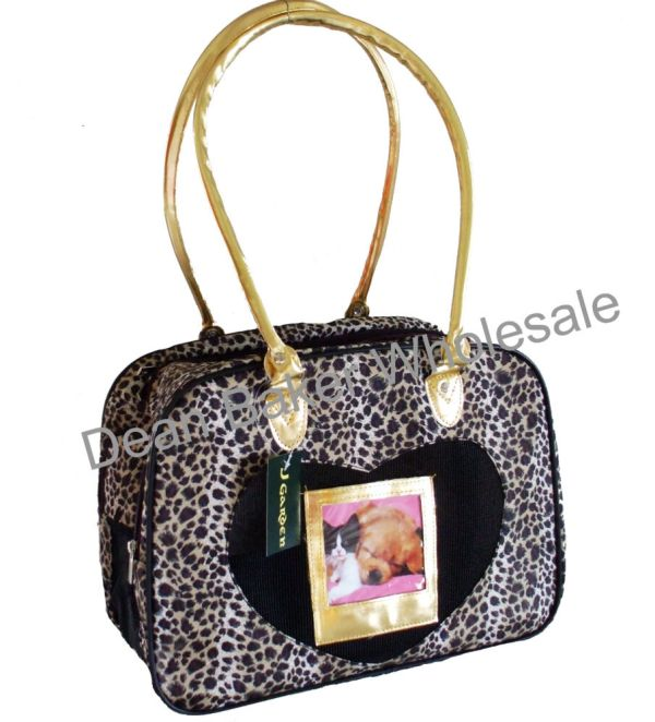 Leopard Dog Cat Soft Sided Pet Carrier Animal Print Gold