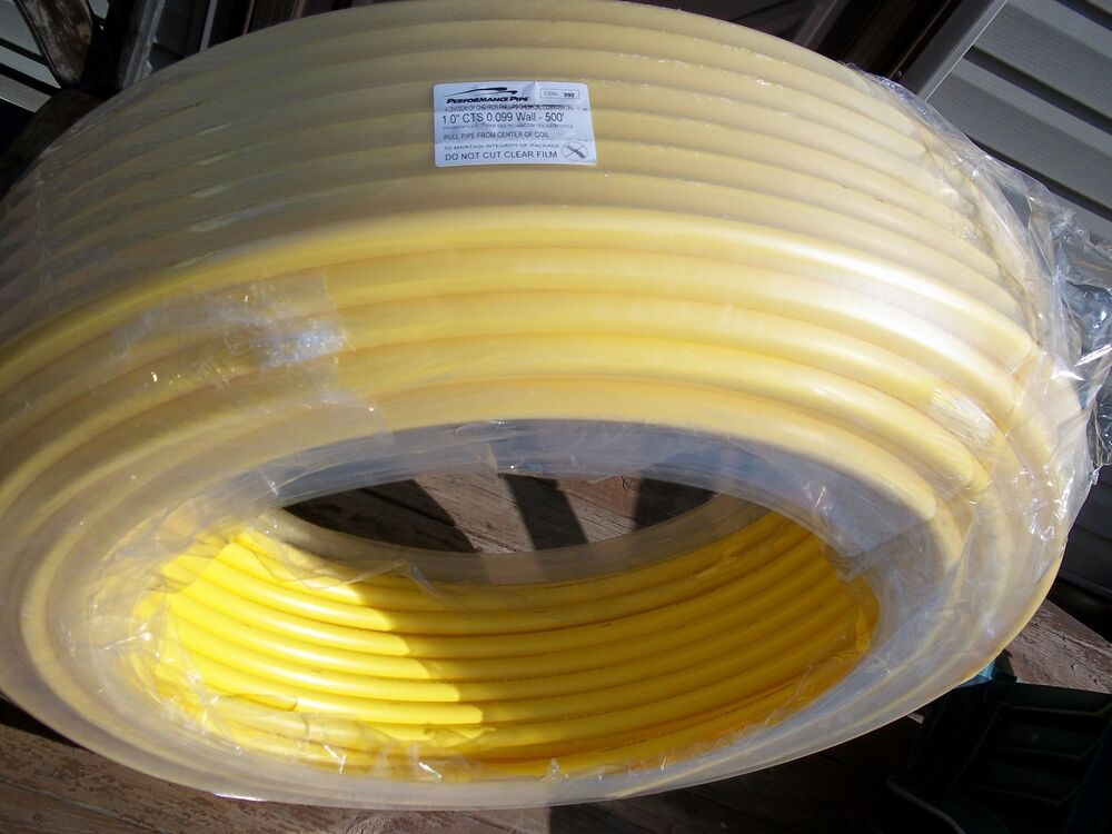 1 inch CTS PE 2406 UNDERGROUND GAS PIPE x 500 FT for