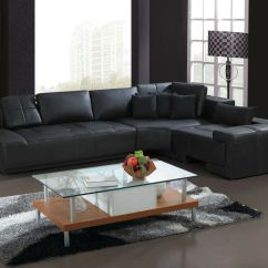 Black Microfiber Sofa Set Images Of For Living Room Franco Collection Modern L Shaped Leather Couch ...
