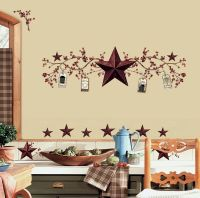 COUNTRY STARS 40 BiG Wall Stickers Rustic Berry Vine Room