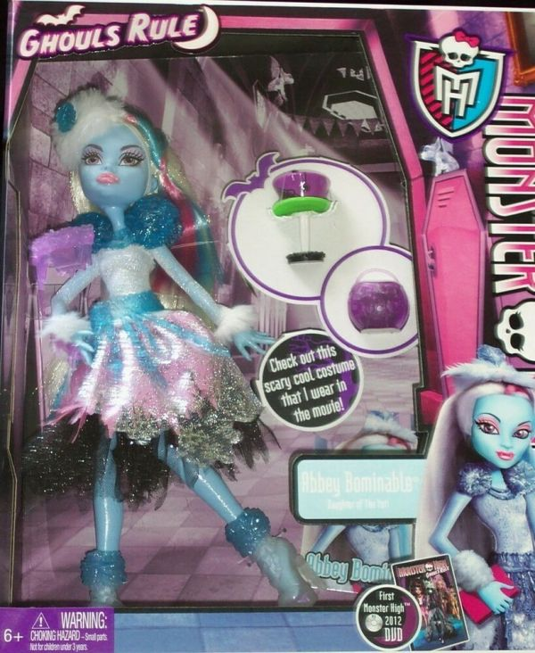 Brand Monster High Doll Ghouls Rule Abbey Bominable Daughter Of Yeti