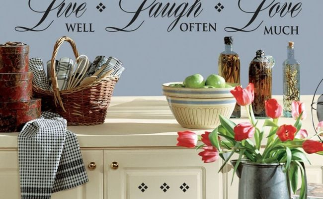 New Black Live Well Laugh Often Love Much Wall Decals Room