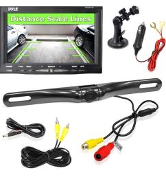 details about new pyle plcm7500 7 window suction mount monitor license plate backup camera [ 1000 x 1000 Pixel ]