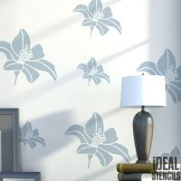 Lily Flower Stencil Floral Wall Decor Art Craft Paint ...