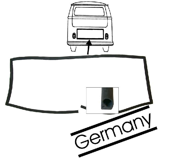 T2 Bay Engine Lid Seal VW Bay Window Camper Bus 1971-1979