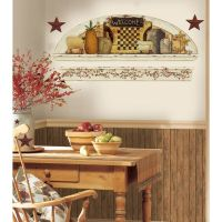 PRIMITIVE ARCH GiaNT WALL DECALS Country Kitchen Stars ...
