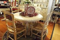 "French Country Column Dining 48"" Round Dining Table Off ..."