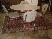 Vintage Mid-Century Modern Retro Chrome Dinette Set Table ...