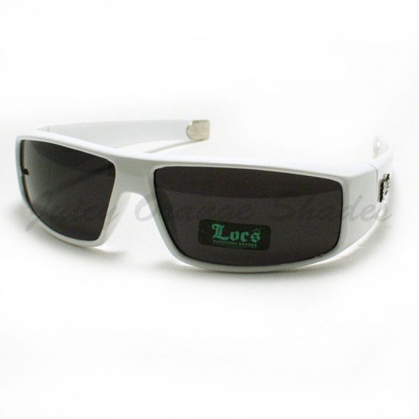 White Locs Sunglasses Mens Authentic Gangster Style Hardcore Shades