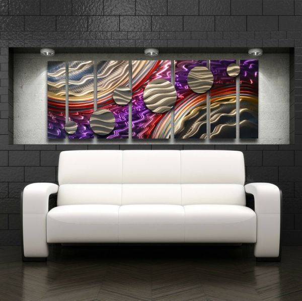 Large Metal Wall Art Panels Modern Contemporary Abstract