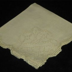 Antique Kitchen Table Paula Deen French Cutwork Lace Embroidered Linen Napkins ...