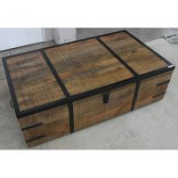 NEW MONTINEGRO INDUSTRIAL MANGO WOOD COFFEE TABLE TRUNK ...