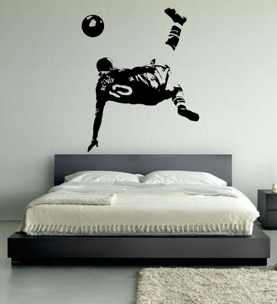 Wayne Rooney Football Wall Art Stickers Over Head Kick