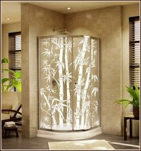 New BIG BAMBOO Etched Glass Clear Decorative Static Cling ...