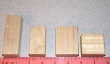 Wood Blocks Mounting Rubber Stamp Dies Assorted Sizes