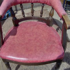 Shelby Williams Chairs Early American Vintage Wood Arm Chair W/upholstered Se | Ebay