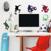 25 New EXTREME SPORTS WALL DECALS Skateboarding Biking ...