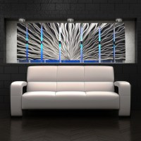 Color Changing LED Modern Abstract Metal Wall Art