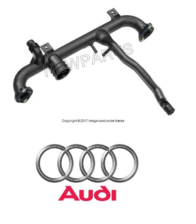 Audi A4 Quattro 02-06 Coolant Pipe on Back of Cylinder