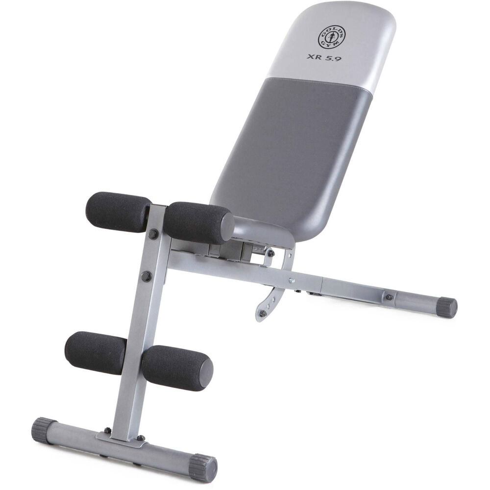 Golds Gym Workout Fitness Bench Full Adjustable Utility