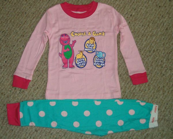 Nip Barney Loves Play Games Pajamas Set Size' 2t 3t
