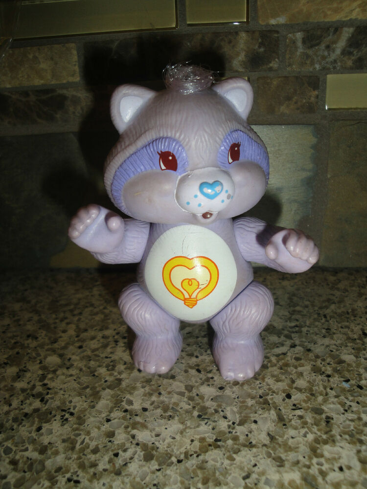 Vintage 1985 Poseable Bright Heart RACCOON Care Bear Cousin Figure EBay
