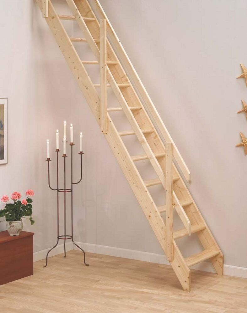 Lisbon Wooden Space Saver Staircase Kit (Loft Stair