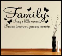 FAMILY WALL ART STICKER QUOTE INSPIRATIONAL WORDS PHRASES ...