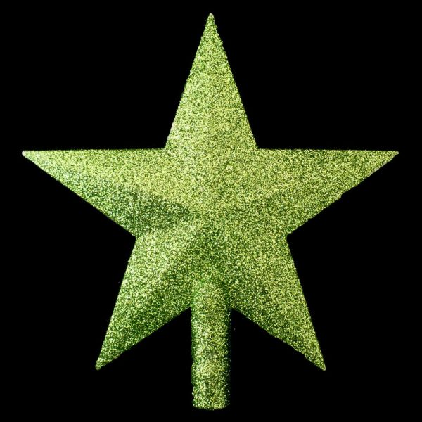TRADITIONAL GREEN GLITTER CHRISTMAS STAR TREE TOPPER eBay
