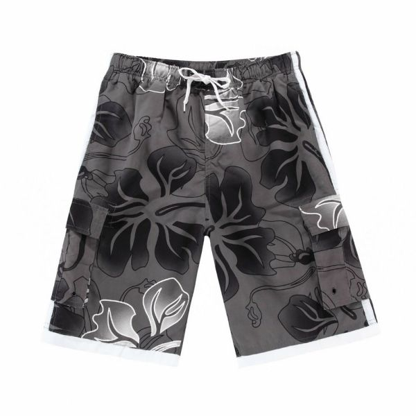 Men Board Shorts Swimwear Adjustable Waist Side Pocket