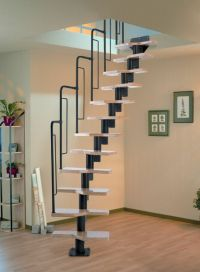 Dolle Graz Space Saver Spiral - Loft Staircase Kit - Black ...