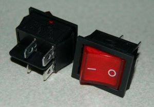 2pcs 4 Pin ONOFF2 Position DPST Snap In Boat Rocker Switch With Red Light Lamp | eBay