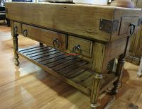 Distressed Large Kitchen Counter Island Double Butcher