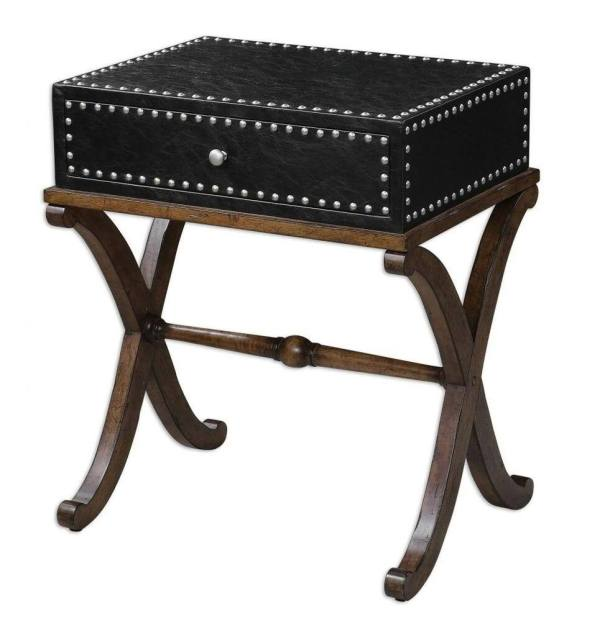 Leather Trunk Accent Tables