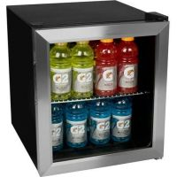 Stainless Steel Compact Glass Door Refrigerator, Personal ...