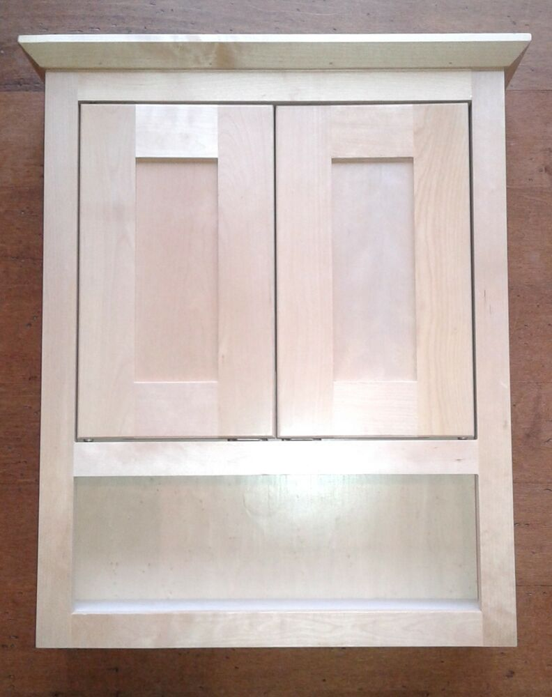 Bathroom Vanity Wall Cabinet Above Toilet OvertheJohn Natural Maple Shaker New  eBay