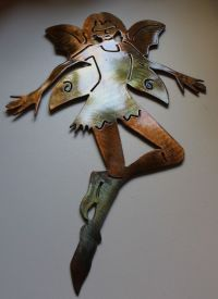 Garden Fairy Metal Wall Art Decor