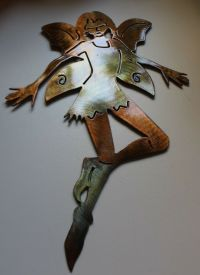 Garden Fairy Metal Wall Art Decor | eBay