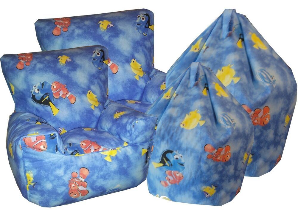 bean bag chairs for teens study chair with attached table finding nemo dory beanbags, chlidrens character chairs,kids sofa's | ebay