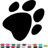 40 PAW PRINT STICKERS Lots of Colours Car Wall Stickers ...