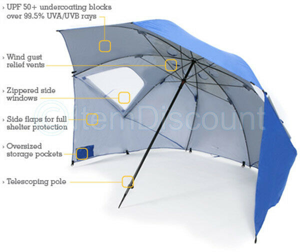 SuperBrella 8 Wide Portable Sun Weather Shelter Beach